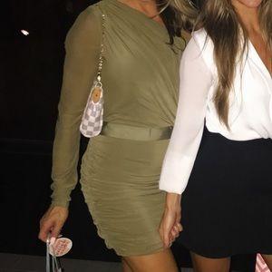BEBE One Sleeve Dress